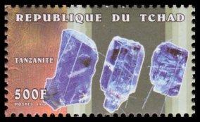Brut de Tanzanite République du Tchad