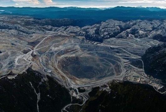 Grasberg gold mine Indonesia.